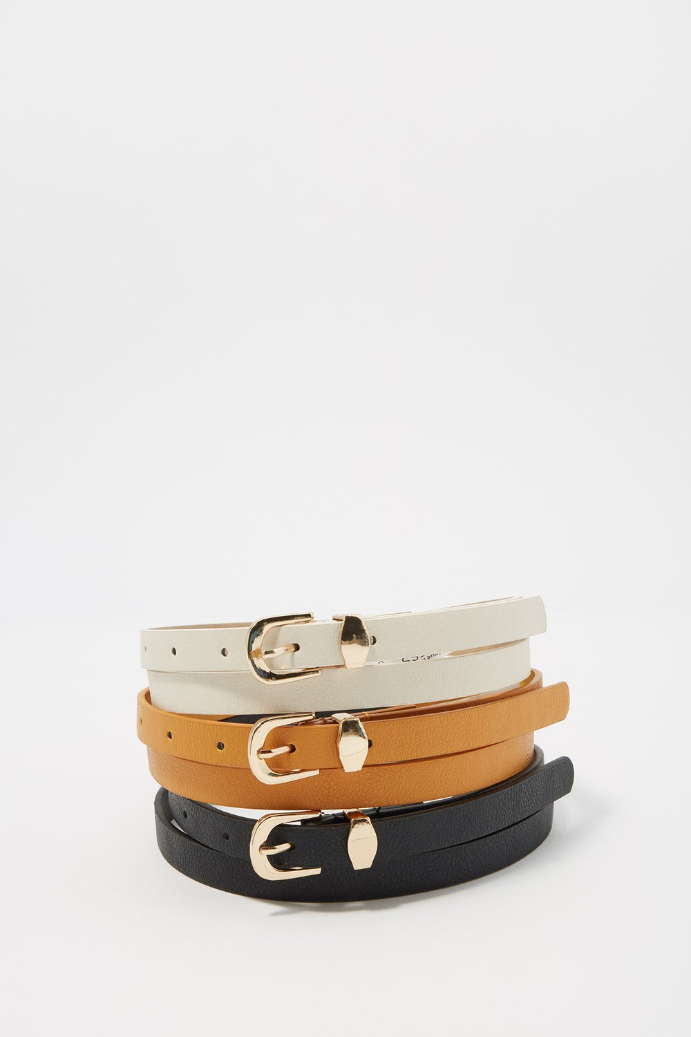 women assorted faux-leather belt set