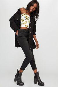 women black ultra high-rise mom jean