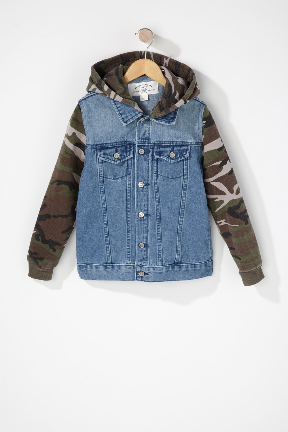 boys camo denim jacket