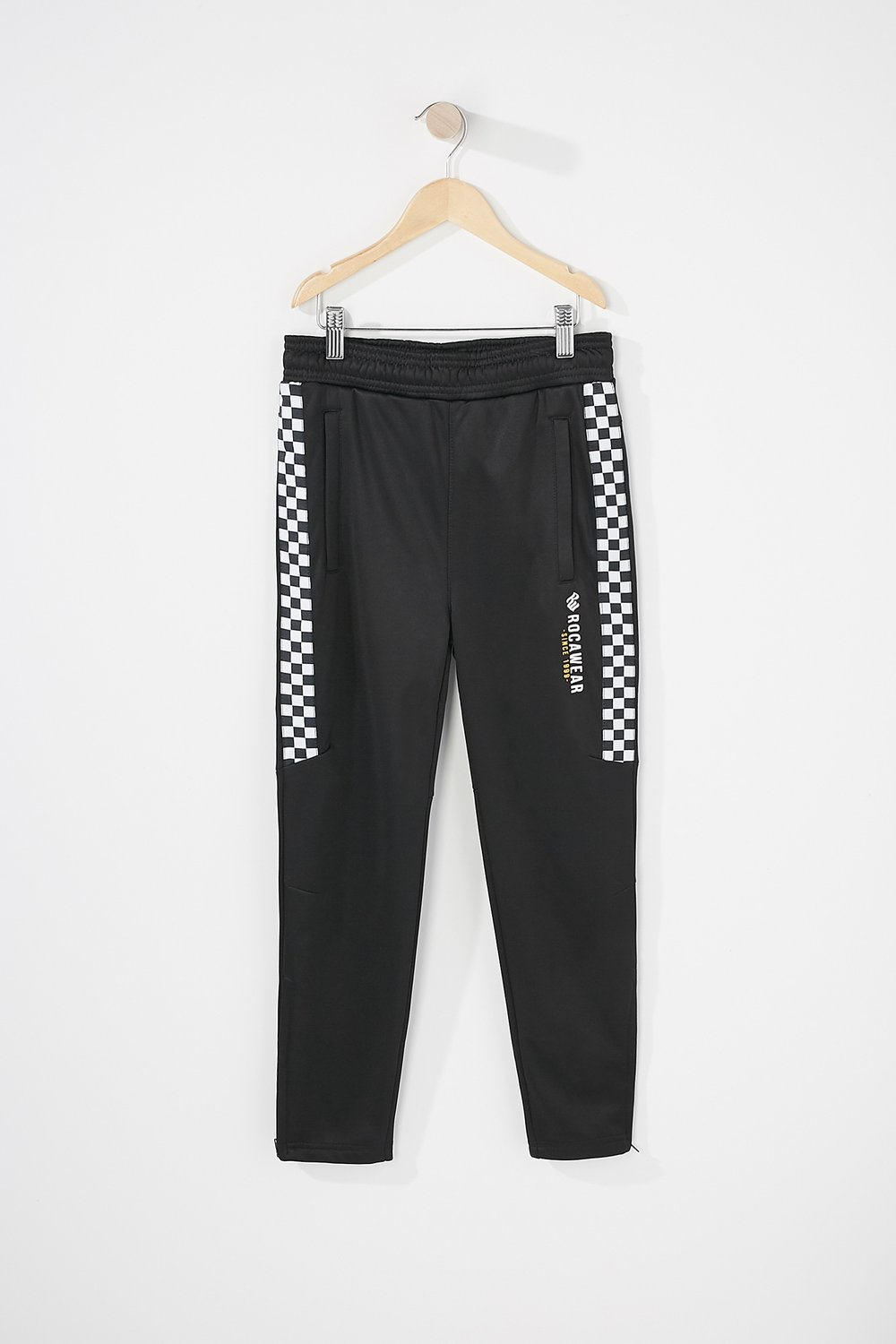 boys checkered active pant
