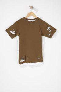 boys distressed layered t-shirt