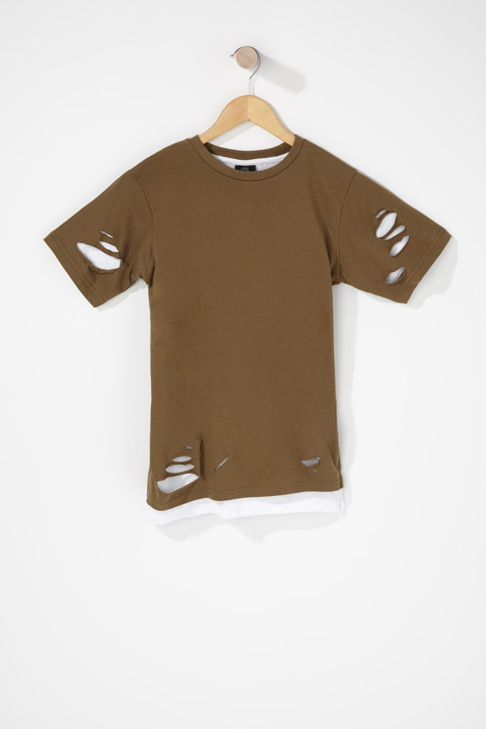 boys distressed layered t-shirt