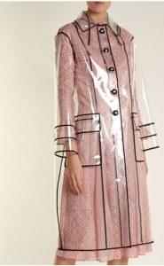 clear plastic coat fall fashion