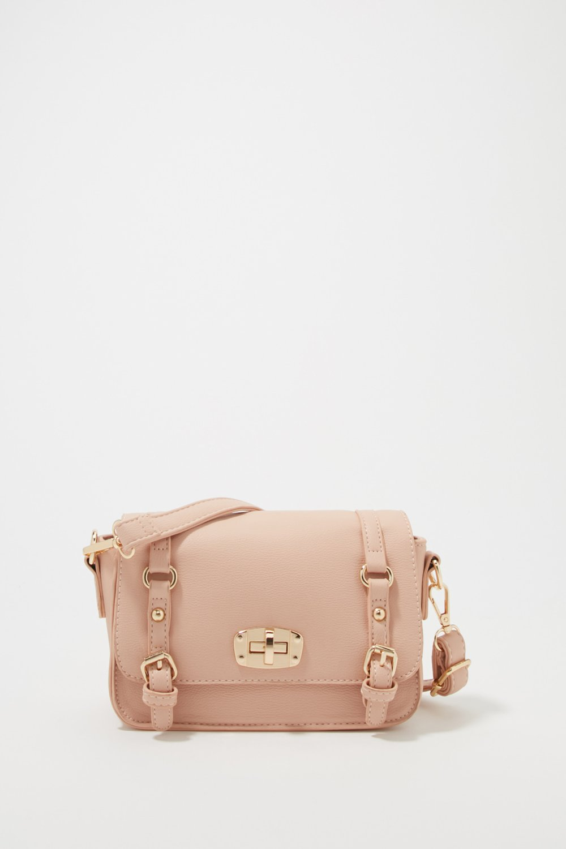 women dual buckle crossbody bag