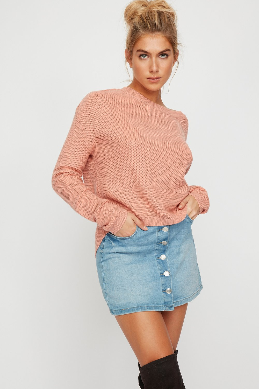 women pastel sweater