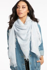women fringe printed blanket scarf