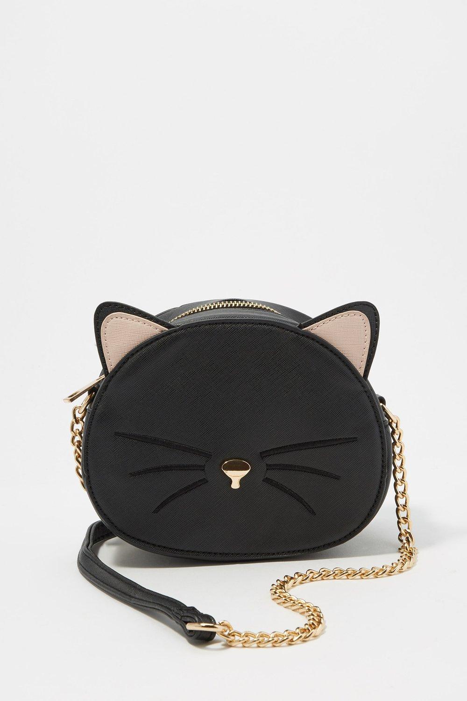 women girls cat crossbody bag