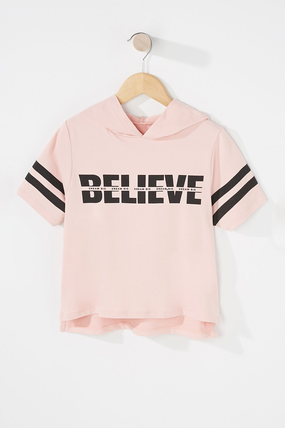 girls popover hooded t-shirt
