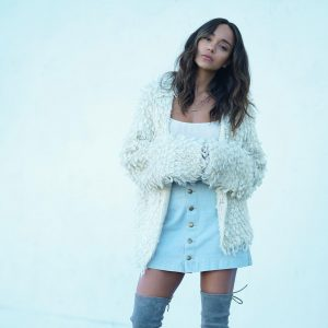 fur jacket - over-the-knee boots