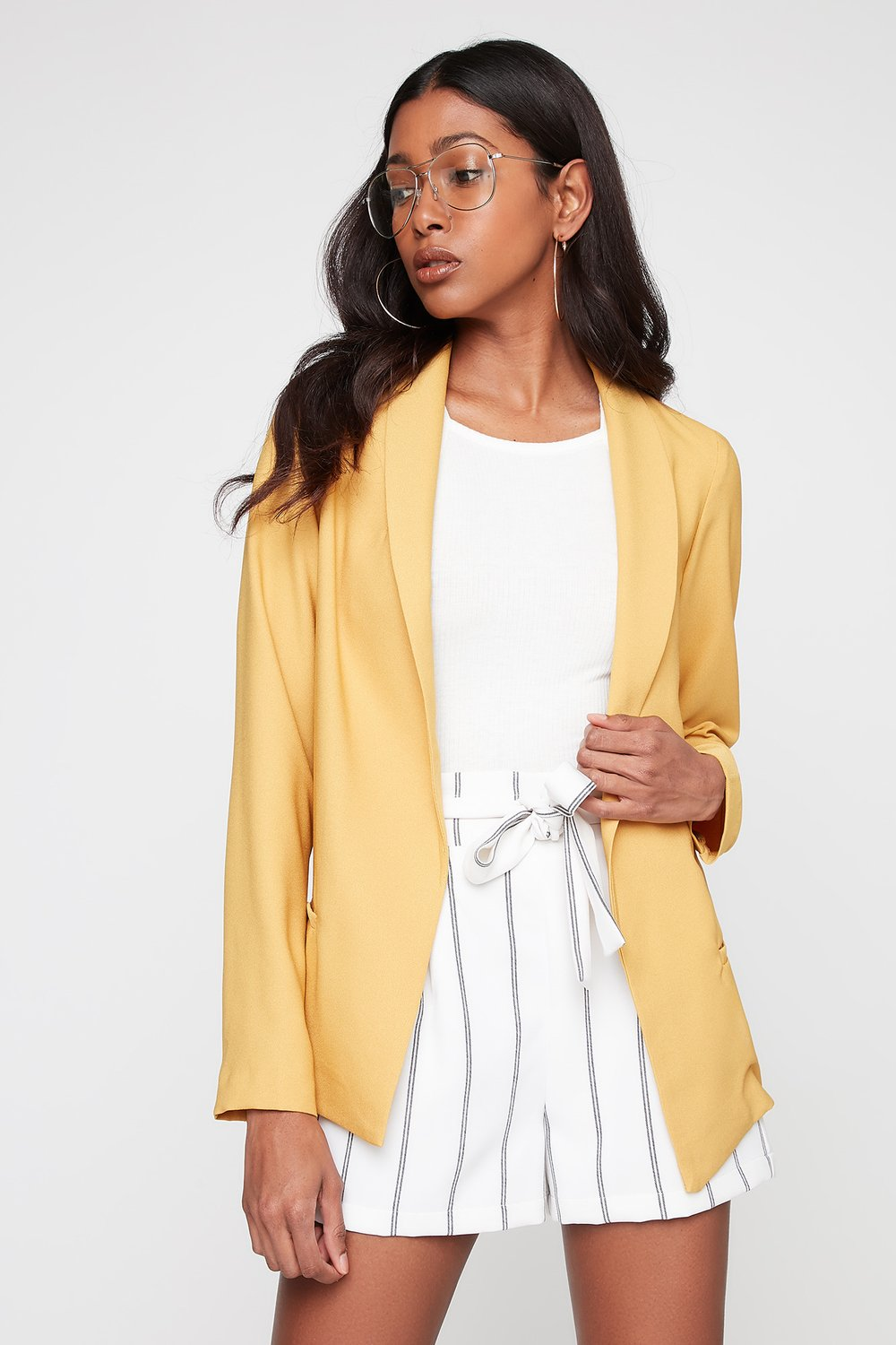 women bright blazer