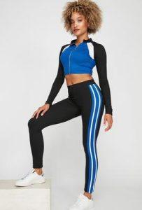 women athleisure color block legging