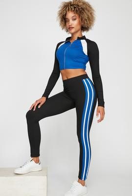 women athleisure color block legging