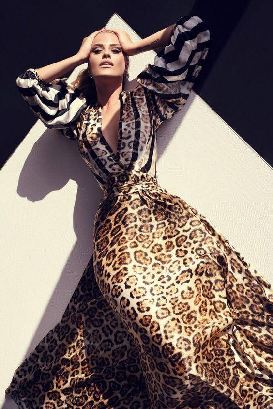 women animal print dress
