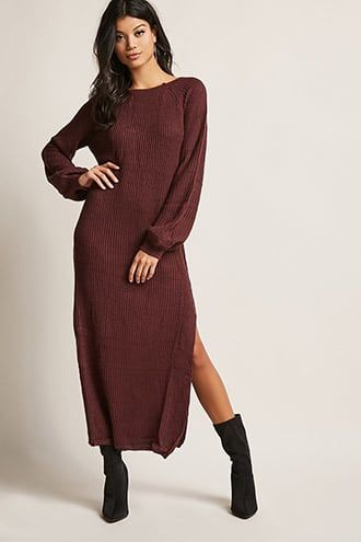 women sweater maxi dress