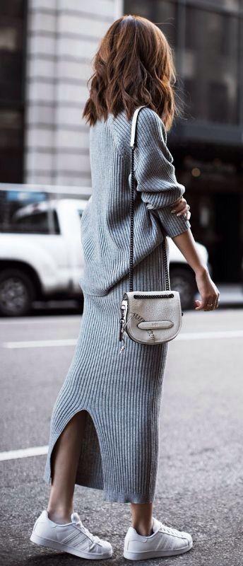 women sweater maxi dress