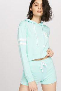 women athleisure pastel hoodie