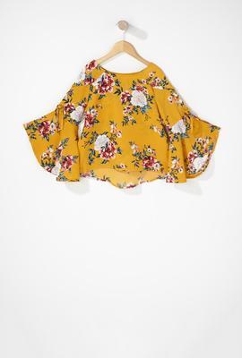 girls ruffle shirt