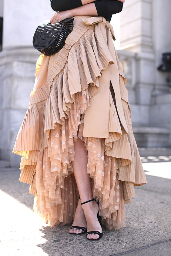 women ruffle skirt