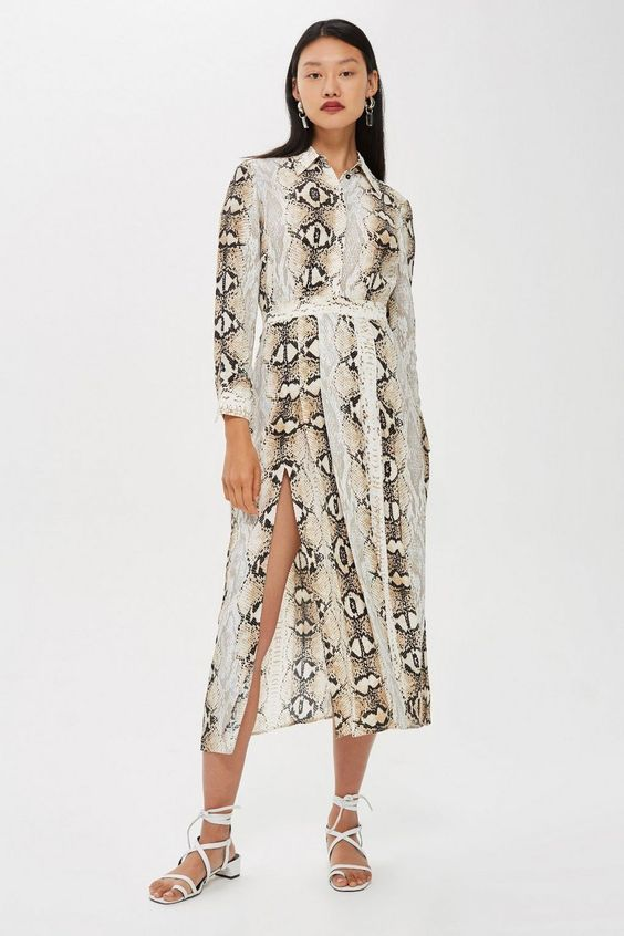 women animal print dress