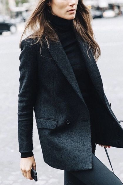 women turtleneck blazer