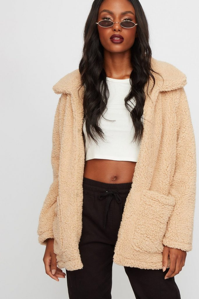 faux-fur sherpa jacket