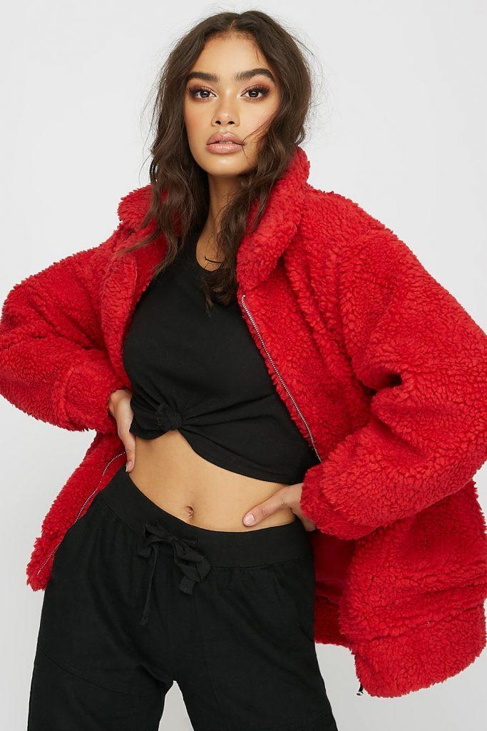 faux-fur sherpa jacket