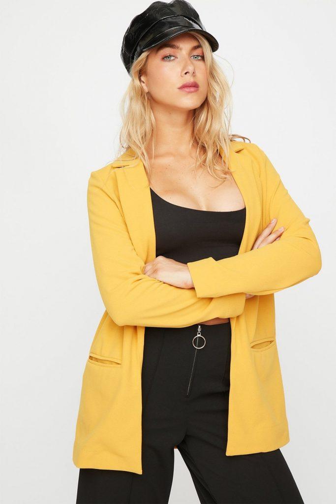 open-front shawl longline blazer