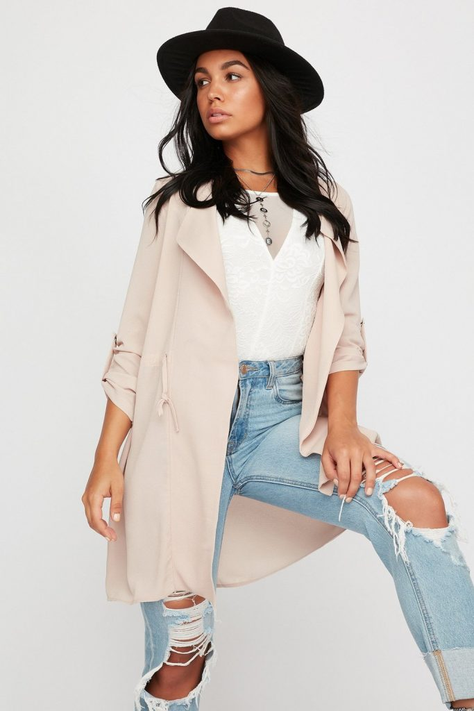 open-front waterfall blazer