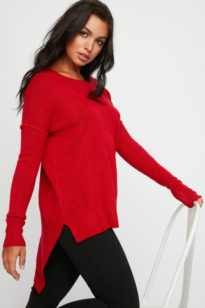 soft knit asymmetrical sweater