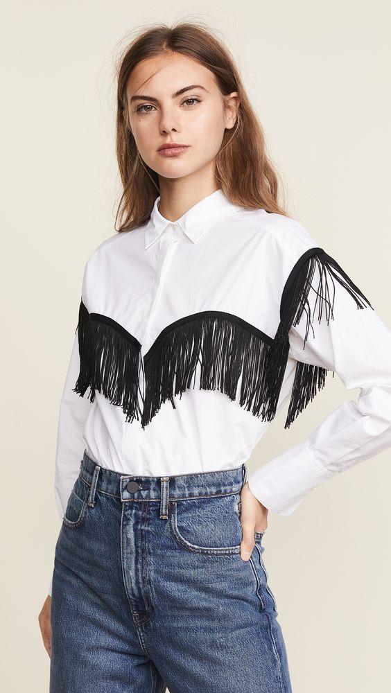 western style fringe shirt
