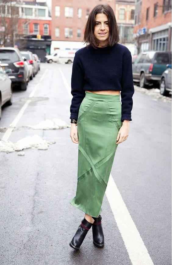 booties - midi skirt
