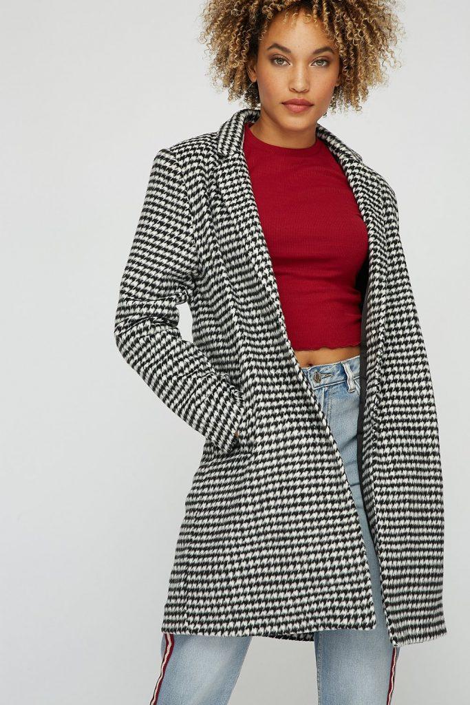 brushed wool overcoat