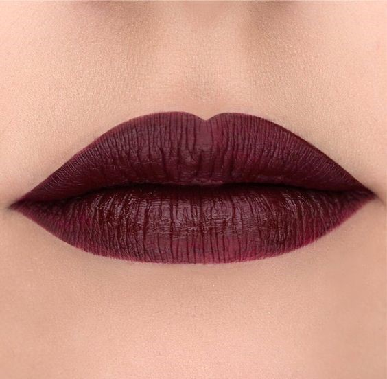 burgandy lipstick