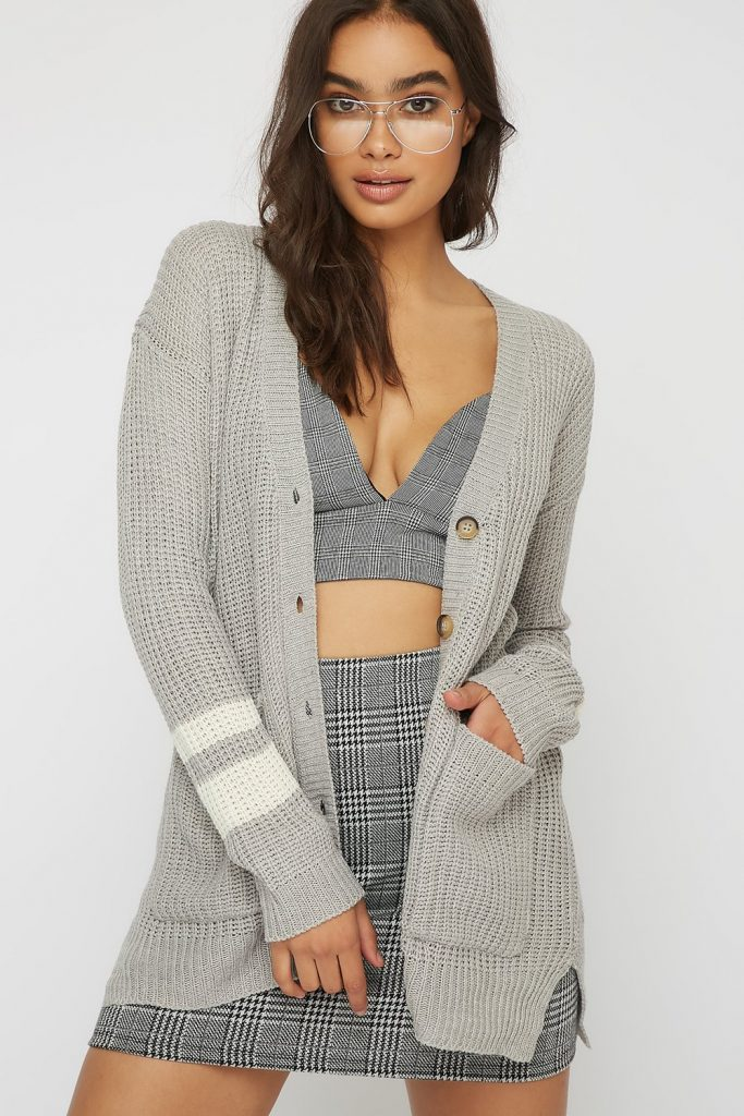 button-up cardigan