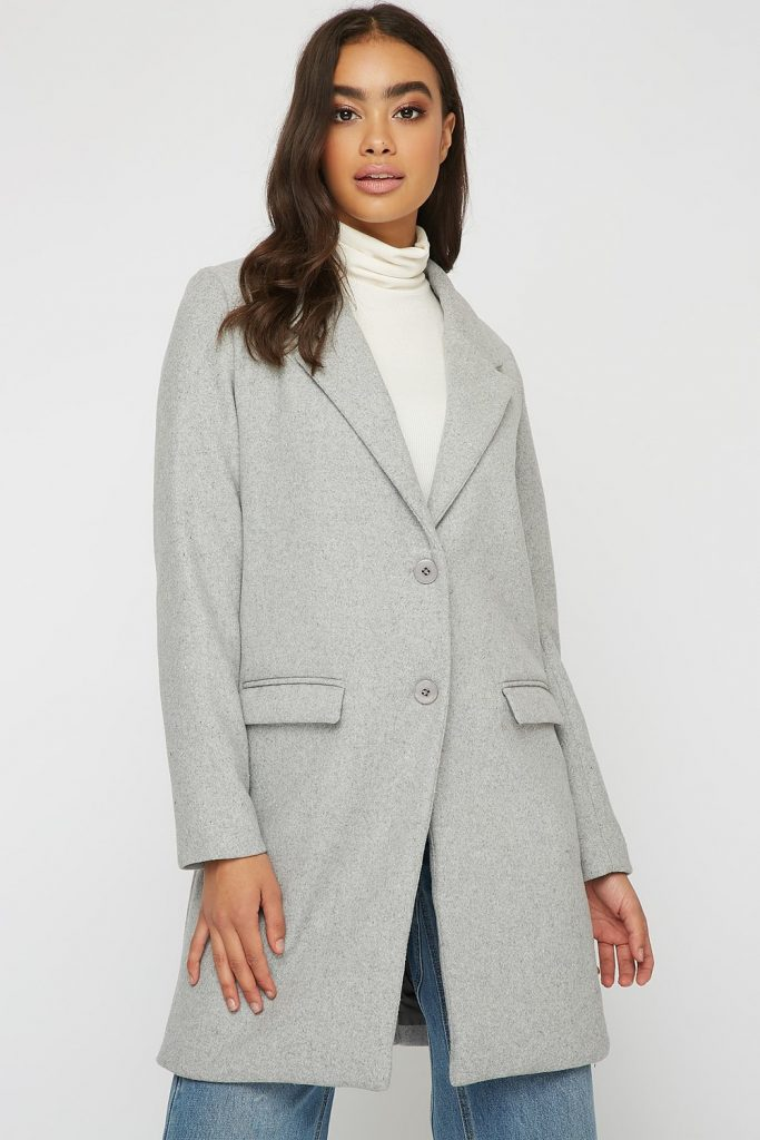 button-up tailored wool coat