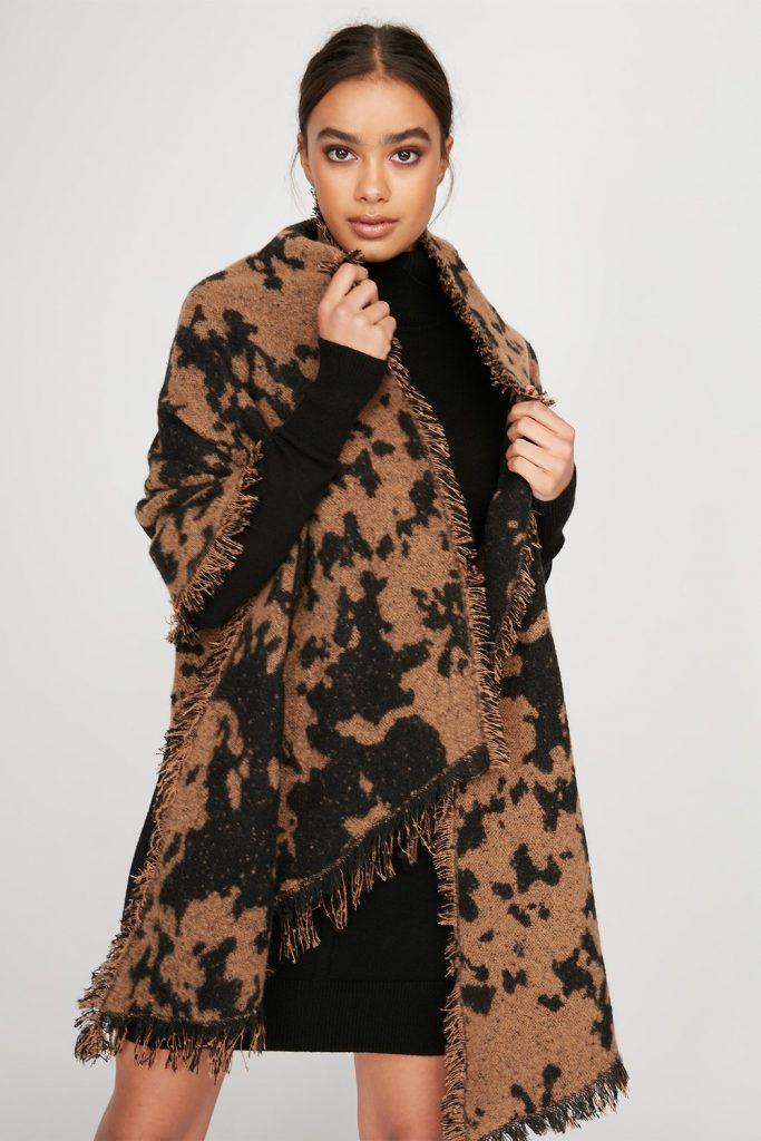 camo soft knit scarf