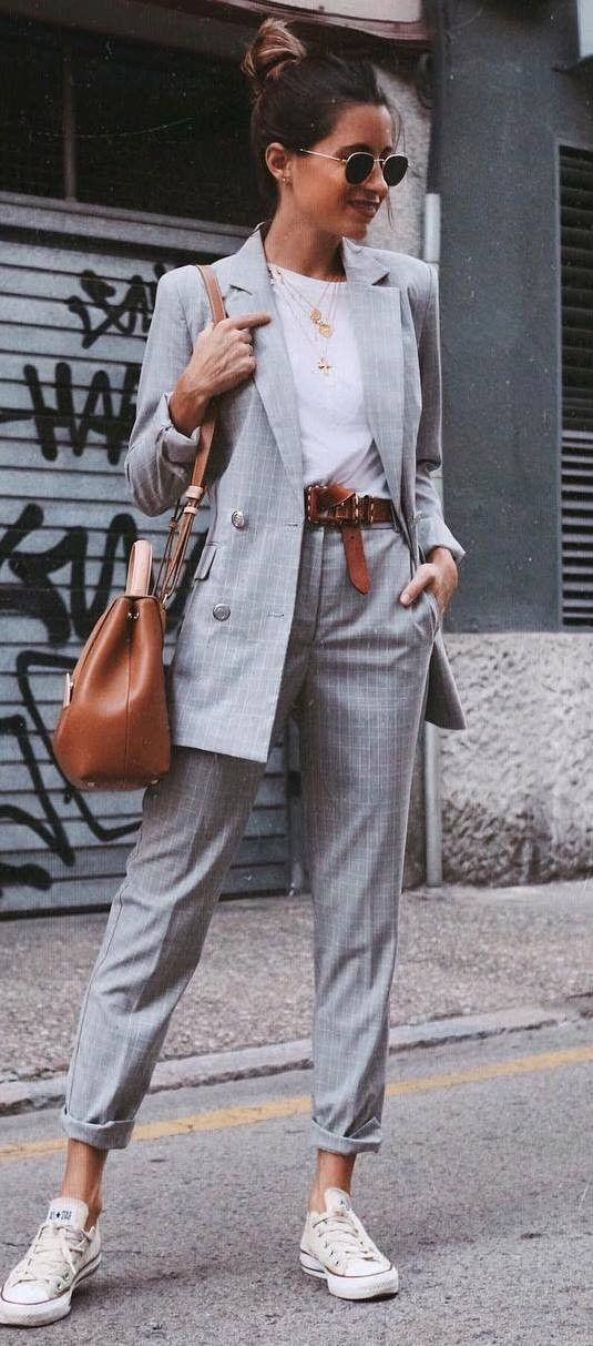 checkered suit
