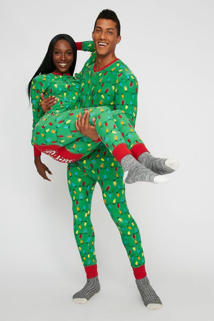 christmas lights onesie