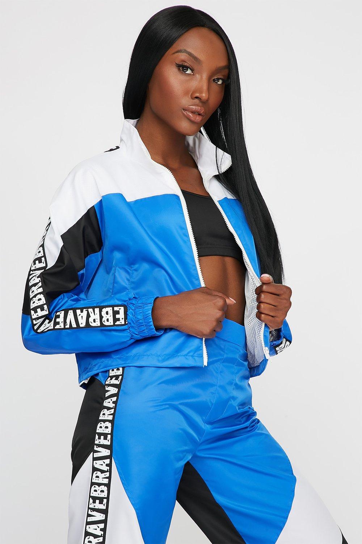 colour block track jacket
