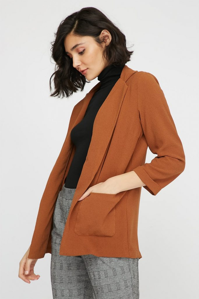 open-front longline pocket blazer