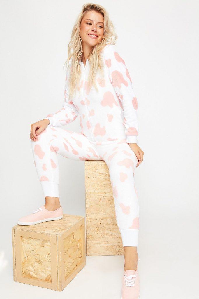 pink cow onesie