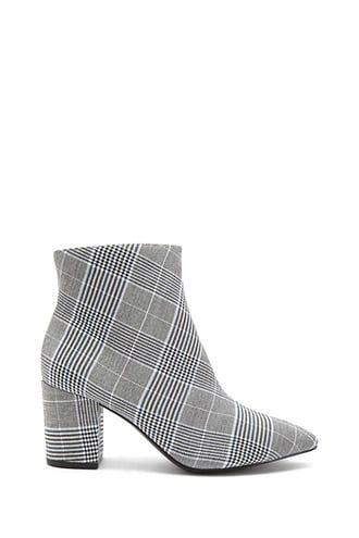 plaid booties