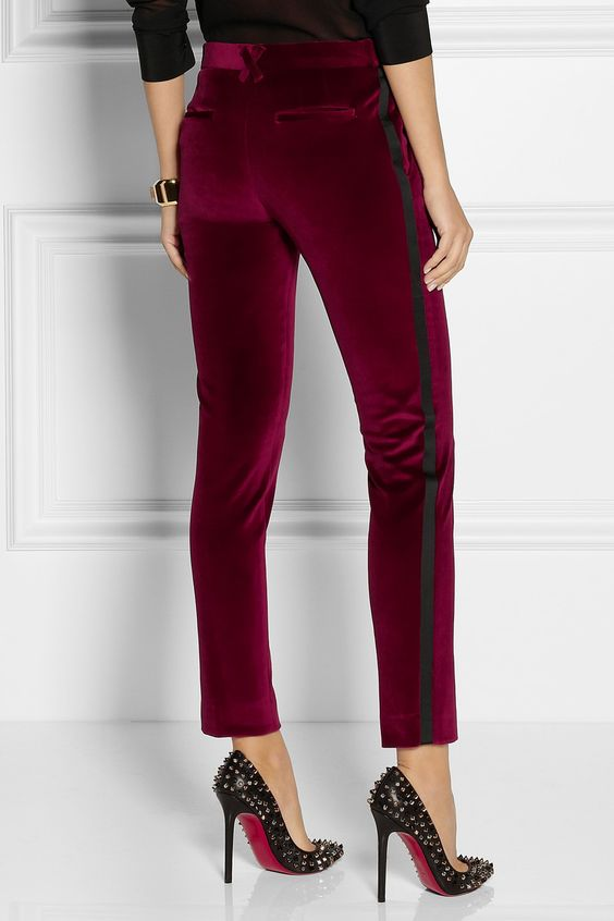 red pear pants