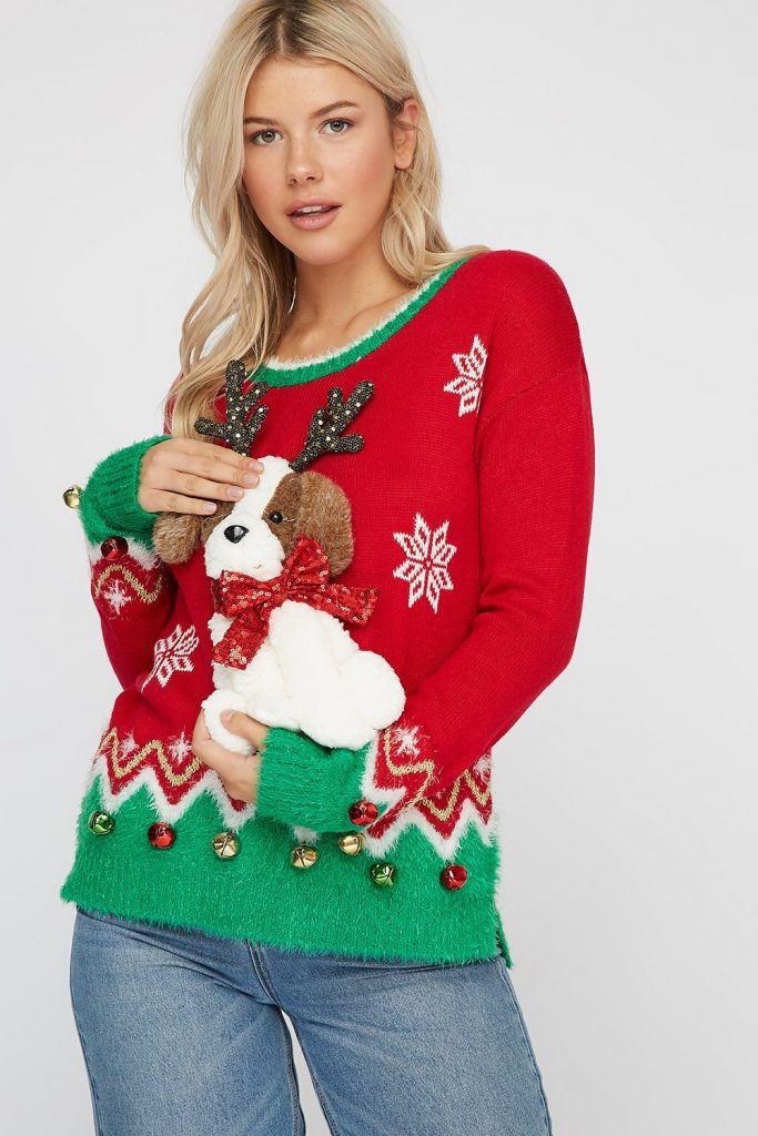 reindeer puppy sweater