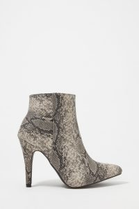 UP snakeskin booties