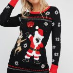 disco santa sweater
