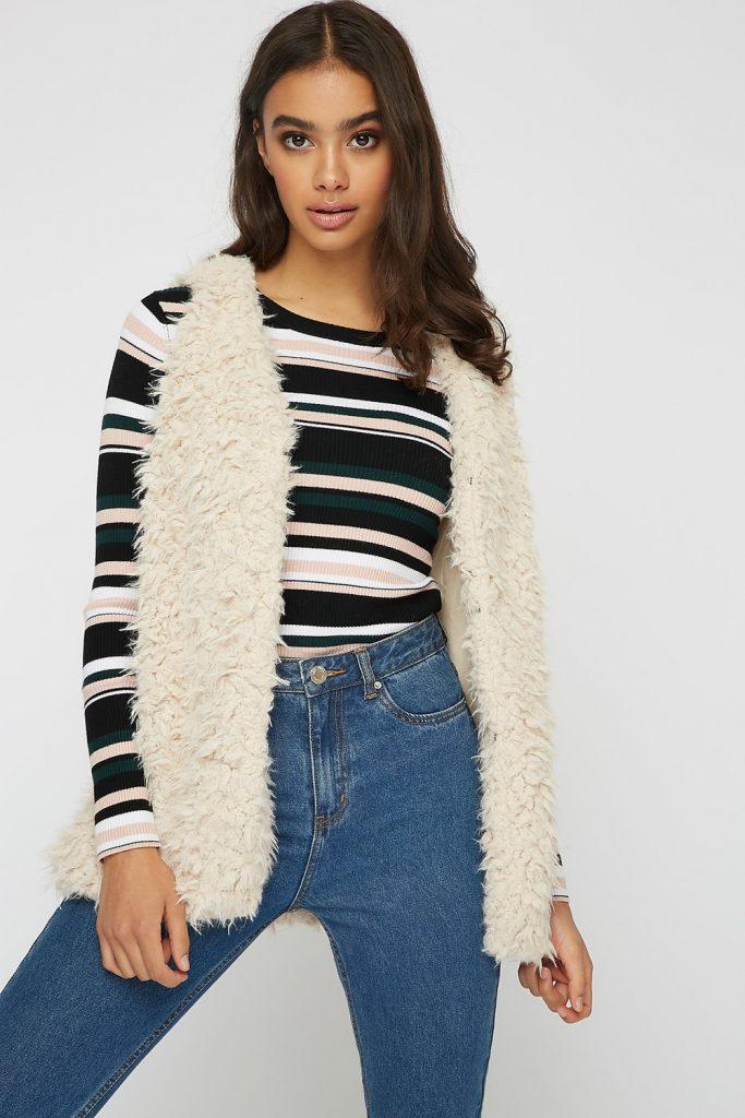 faux-fur sherpa vest