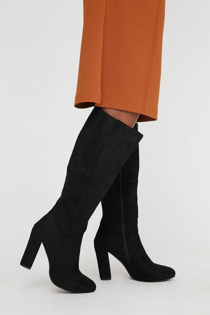faux-suede boots