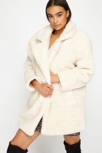 oversized fur sherpa jacket