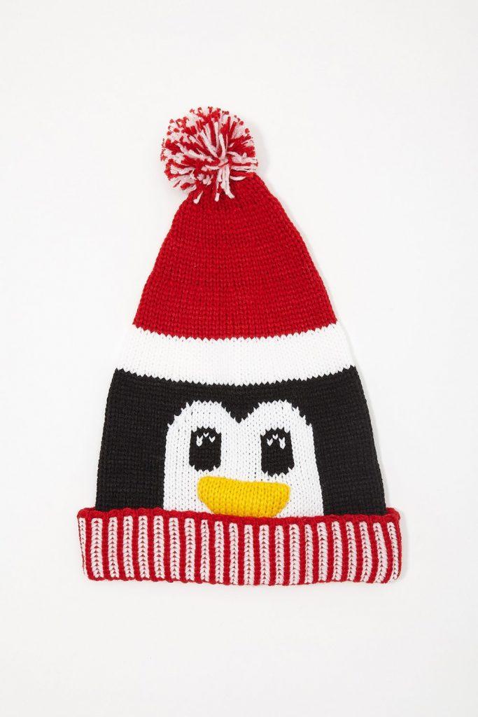 Christmas penguin beanie